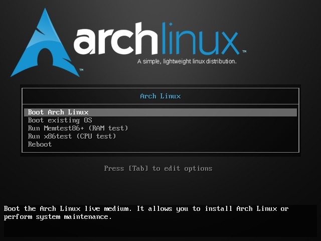 Arch Linux ISO Splash Screen