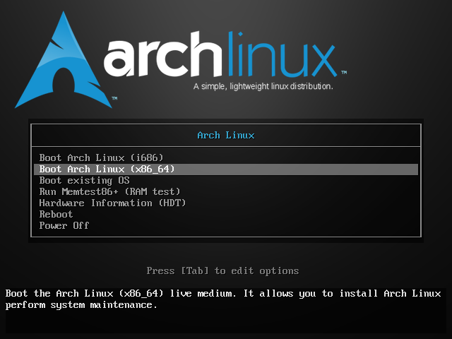 01 - Arch Linux ISO Splash Screen