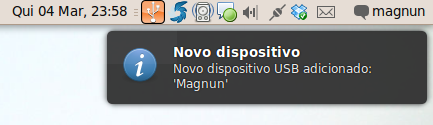 Novo dispositivo adicionado