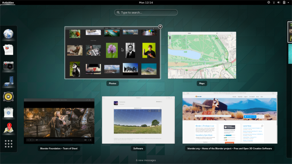 GNOME 3.12 Window Selection